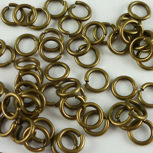 Antique Bronze Iron Jump Rings Various Sizes And Gauges Closed Unsoldered