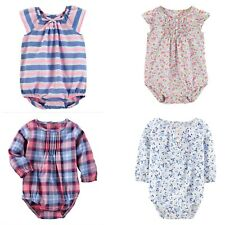 New OshKosh BGosh Baby Girls  Woven Bodysuit Plaid,...
