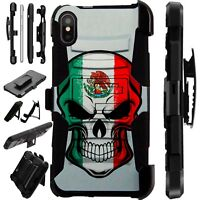 Lux-Guard For iPhone 6/7/8 PLUS/X/XR/XS Max Phone Case Cover MEXICAN SKULL FLAG