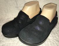 Alegria Kel 751 KELI Leather Clogs Size 36 (US 6 - 6.5) Metal Rain Black Shoe