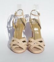 VALENTINO Garavani Lt Pink Snakeskin Leather Open Toe Platform Sandals Pumps 40