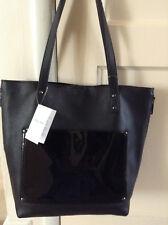 b7cffdb4549b NWT Perlina Black Genuine Leather Large Judi Tote Bag