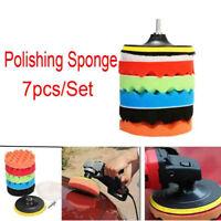 "7pcs/Set 3""/4""/5""/6""/7"" Sponge Polishing Waxing Buffing Pad Kit For Car Polisher"