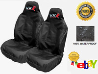 VXR RED LOGO - Pair Car Seat Covers Protectors x2 - Fits Vauxhall Corsa VXR