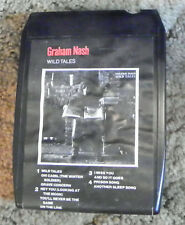 Graham Nash  Wild Tales   8 Track Cartridge Tape  (RP)