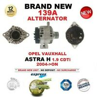 FOR OPEL VAUXHALL ASTRA H 1.9 CDTi 2004-ON NEW ALTERNATOR fitted CLUTCH PULLEY
