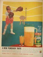 Lot of 3 Vintage 1960 Tang Print Ads Breakfast Drink