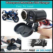 Waterproof Motorbike Motorcycle GPS Mobile Charger USB Power Adaptor Socket 12V