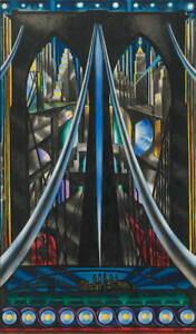 Joseph Stella The Brooklyn Bridge Poster Reproduction Giclee Canvas Print