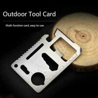 11 in1 Multi Pocket Tools Outdoor Hunting Camping Credit Card Survival G4E6