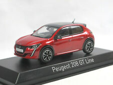 Norev 473832 - 2019 Peugeot 208 GT Line - Rot - Modellauto 1/43