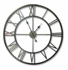 Wall Clock Large 56cm Diameter Roman Numeral Black Walpus Iron NEW (X)