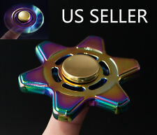 Hexagonal Zinc Hand Finger Spinner Fidget Desk Focus Toy 3D EDC Rainbow