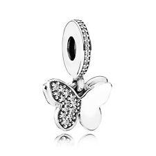 PANDORA Fluttering Butterflies Pendant Charm 791844CZ Butterfly Authentic Bead