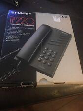 Vintage New Sharp Phone TP-220 Auto-Dial Telephone Black