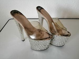 high heels getragen Pleaser Plateau Gr.6 ca. 36 für Sammler und Liebhaber