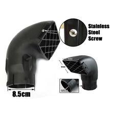 """Black Snorkel Head Air Ram Head 3.5"""" 85MM Filter Air Intake Smoothly Longlasting"""
