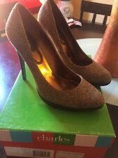 Charles David By Charles David Cognac Tweed Sharpy Pump Size 7.5