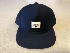 NWOT RVCA Detour Snapback Cap Hat Navy