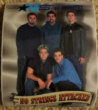 "N Sync Vintage ""No Strings Attached"" Sticker/Decal Pop Rock N Roll"