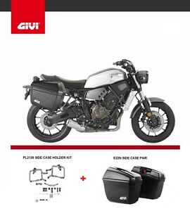 YAMAHA XSR700 2016 GIVI E22N PANNIERS + PL2126 RACKS side case HOLDER xsr 700