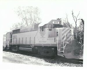 B & W Photograph Tuscola & Saginaw Bay Durand Michigan 390 MI Train Picture