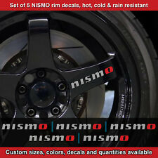 Nismo rim decal sticker adhesive all nissans 5 DECALS wheels handles 2.5srt etc