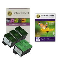 Lexmark 16/26 Compatible Black x3, Colour x2 Ink cartridges + Photo Paper Pack