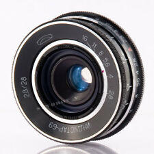 Industar-69 28mm f2.8 USSR pancake wide angle Objectif lens M39 28/2.8 MMZ LOMO