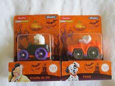 Fisher Price Little People Halloween Wheelies Disney Cruella De Vil and Patch
