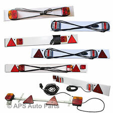 3ft 4ft 5ft Standard or LED Trailer Light Board Cable Caravan Car Van Boat Lorry