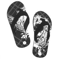 Vintage Stone Dragon Foam Flip Flops Sandals Youth Kids Large 4//5 New NWT