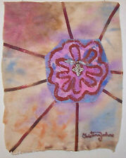 Recession Art #43 by CHRISTINA JOHNS Wall Work Fabric Art Coptic Cross Hanging!!