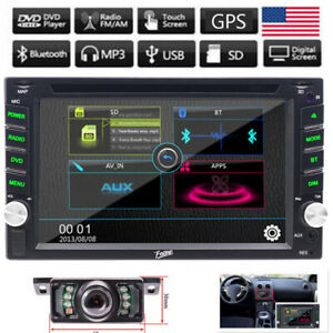 """Double 2Din 6.2"""" Car DVD MP3 Player Touch Screen In Dash Stereo Radio Camera GPS"""