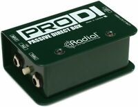 Radial Engineering ProDI Passive Instrument Direct Box Bass/Guitar/Synth Pro DI