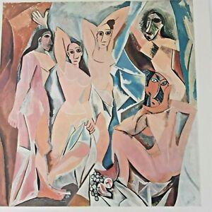 Les Demoiselles D'avignon Picasso Vintage Colour Print 1950s 31 1/2 cm x 24 cm
