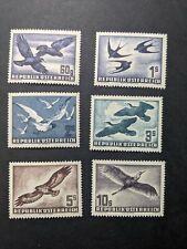 Jj: Austria Stamp Collection Lot Airmail Bird C54 Set All Mint Nh Og, Key Values