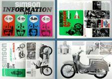 Prospekt Simson Information Schwalbe Star Sperber Spatz Kleinkrafträder 1968 DDR