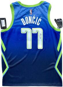 LUKA DONCIC #77 SIGNED MAVERICKS AUTHENTIC BASKETBALL JERSEY PSA/DNA AUTO 10