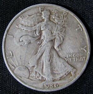 1936-D 50C Walking Liberty Half Dollar AN10