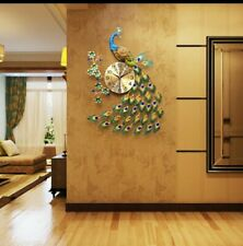 Modern Peacock wall clock