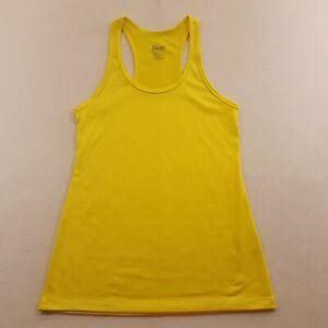 Nike Dri-Fit Women Size XS Yellow Active Athletic Tank Top Sport Shirt