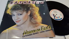 "NATHALIE - Heaven on Earth 1984 SYNTH POP ELECTRO 12"" Belgium Vogue"
