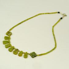 collar serpentina Tierno Verde AFGANISTÁN JOYA COLLAR JOYAS DE PIEDRA C06