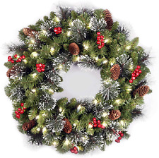 Christmas Decorations Wreath Artificial Branches 24' LED Lights Long Lasting2020