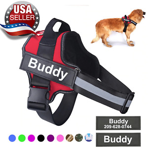 Personalized Adjustable Dog Harness Reflective Breathable For Small & large Dogs