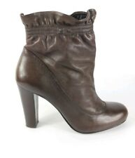 Dune Brown Leather High Heel Ankle Boots Uk 5 Eu 38