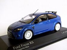 MINICHAMPS FORD FOCUS RS MET BLUE WHITE WHEELS 1/43