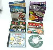 PC Card Games Lot of 6 Computer Poker Solitaire Backgammon Chess Bicycle Hoyle