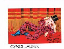 CYNDI  LAUPER  AUTOGRAPH  8  X  10 NICE LOOK